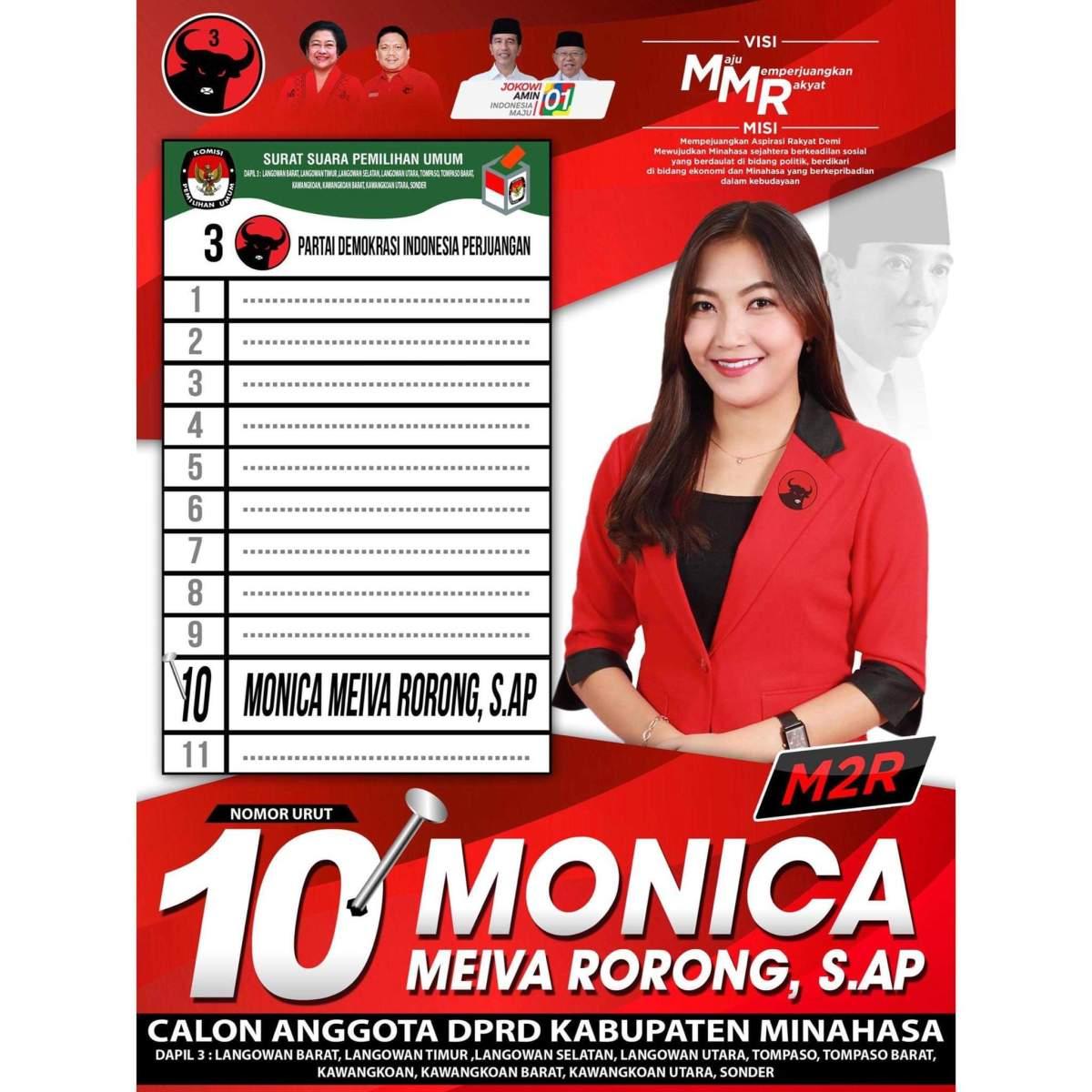 Monica Meiva Rorong, Generasi Millenial yang siap Perjuangkan Aspirasi Rakyat di DPRD Minahasa